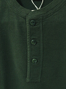 UES ウエス 621451 長袖ヘンリーネックTシャツ