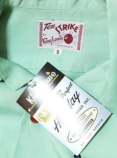King Louie キングルイ 実名復刻 KL37021 RAYON BOWLING SHIRT [ Virginia BOWL ] 半袖レーヨンボーリングシャツ