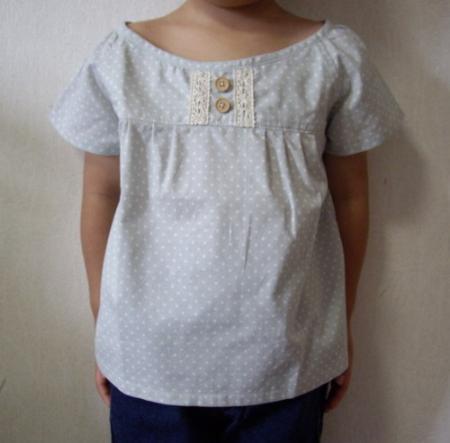 子ども用100サイズ半そでチュニックシャツ