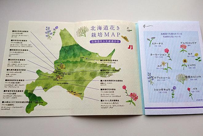 北海道で生産されている花と時期