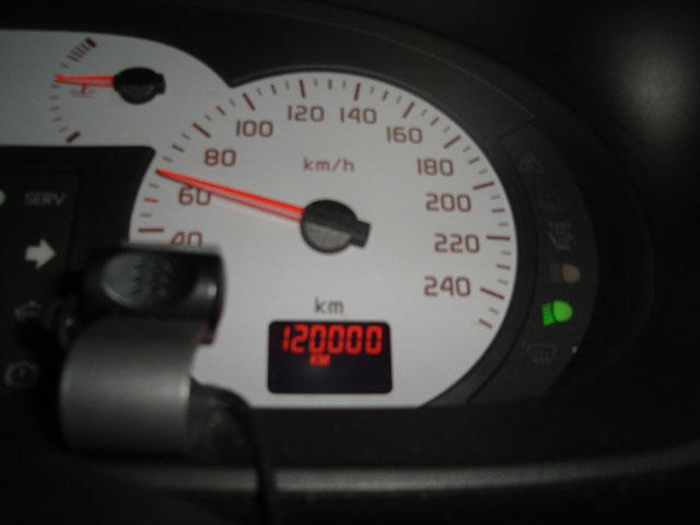 120,000kmです