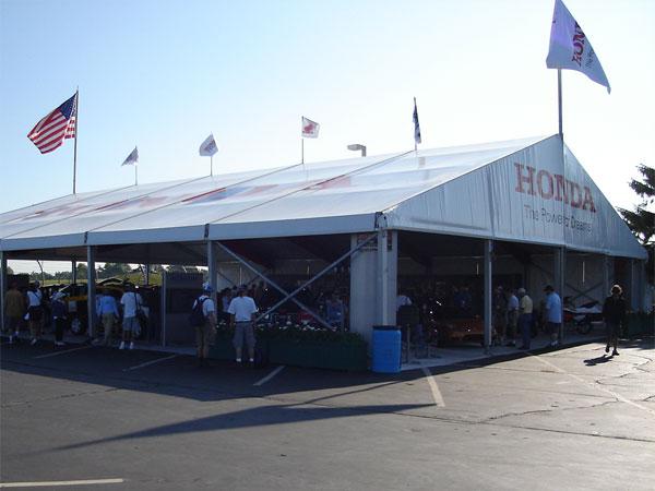 HONDAの展示テント