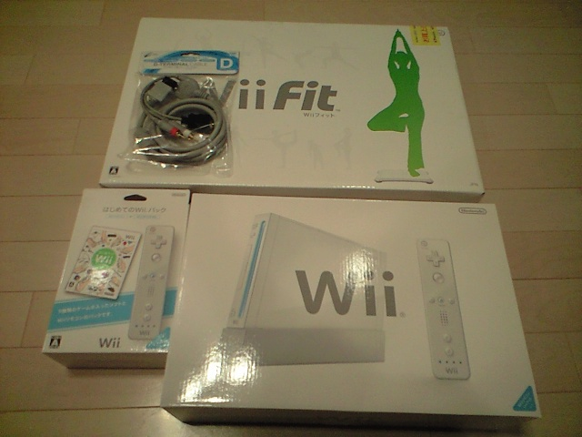 wii & wiiFit & 初めてのwii