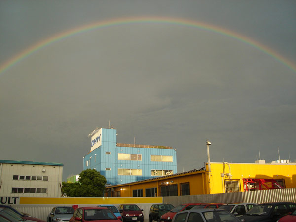 虹がかかっていました!