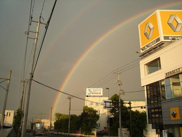 二重の虹です!