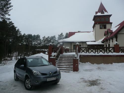 コレオスと冬の雪景色