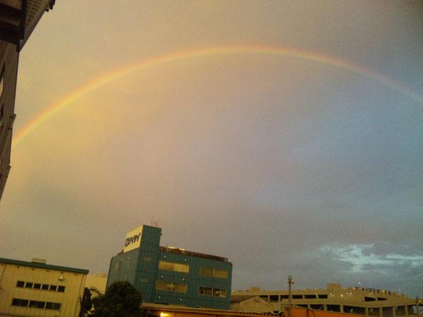 空に虹が!!!