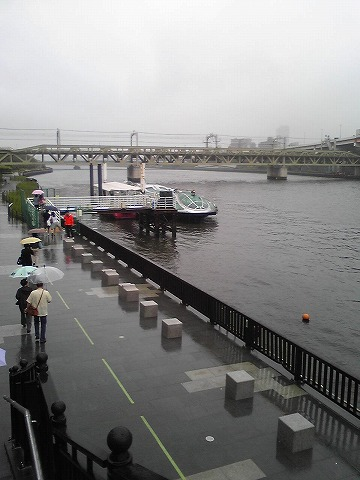 雨の隅田川です♪