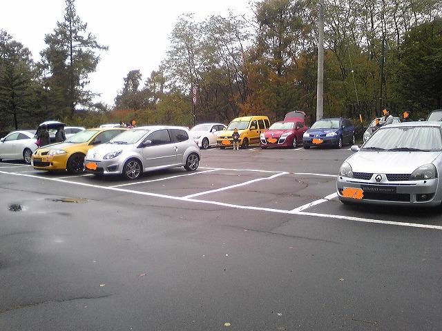 あまり見れない駐車場です