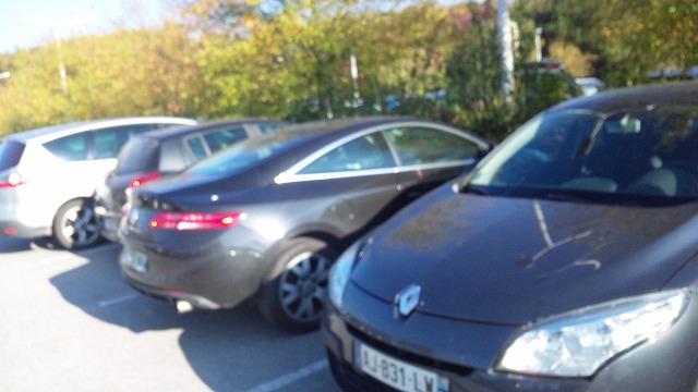 駐車場はルノーでいっぱい