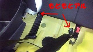 シートベルトは簡単に!