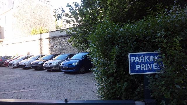 なんでもない駐車場を撮りました