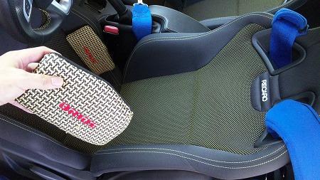 昔使っていたシートサポートも使ってみた!
