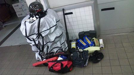 荷物がたくさんです