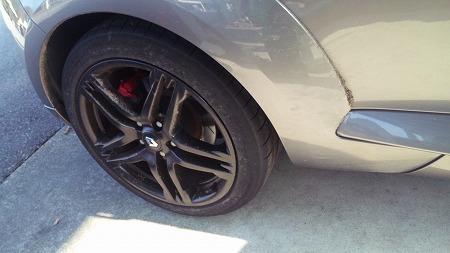 タイヤも砂だらけになっちゃった