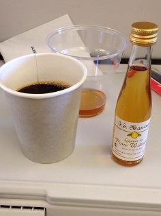 機内での食事です