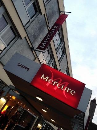 ホテルはMercureDIEPPEです