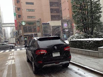 銀座にも雪が!