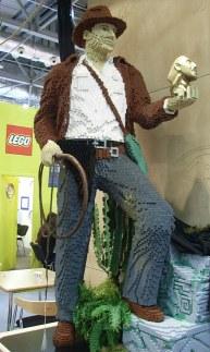 レゴのブースはインディアナジョーンズ