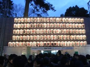 大国魂神社の修理中の随身門