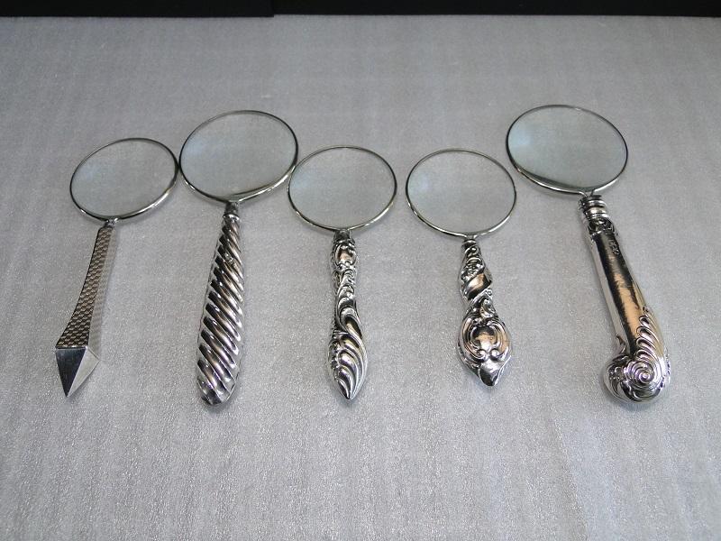 純銀製のルーペ・虫眼鏡