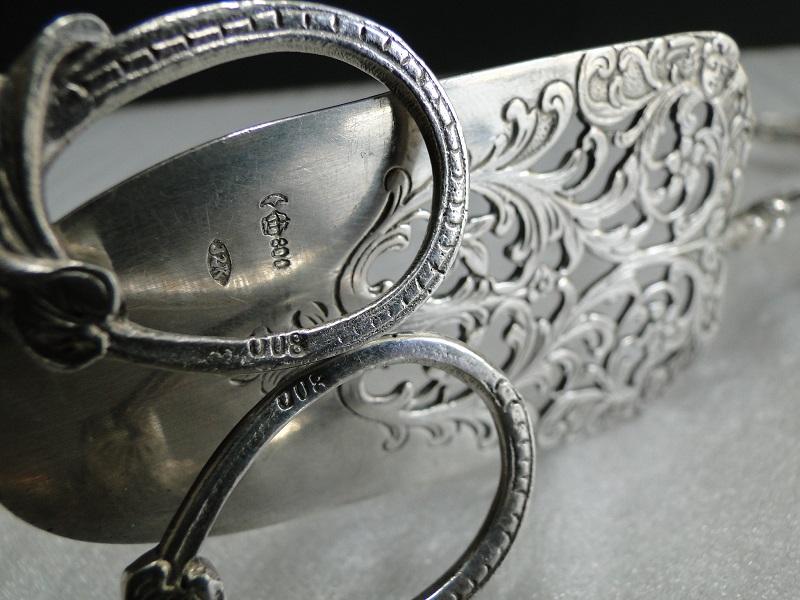 純銀800 ケーキトング・サーバー