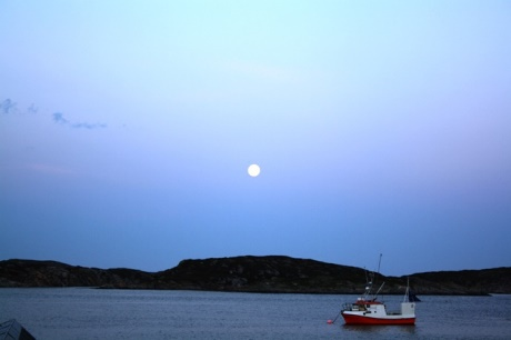 Sorburoy, Norway, Super-moon, July 12, 2014