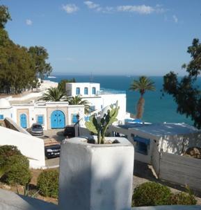 チュニジアの観光シディ・ブ・サイド写真