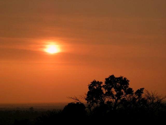 ボジアの夕日