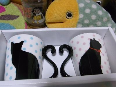 黒猫マグカップ01