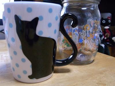 黒猫マグカップ04