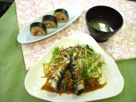 「食の楽校」料理見本
