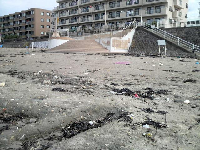 台風後の東浜