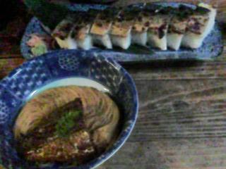 焼鯖そうめんと焼鯖寿司
