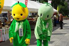 広島駅前で