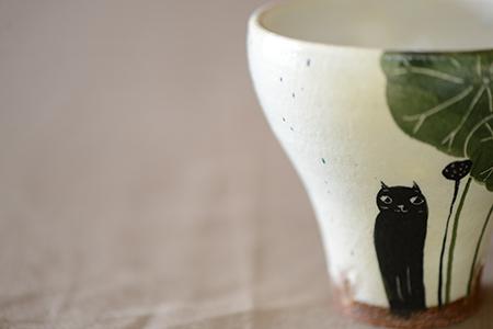 黒ネコカップ