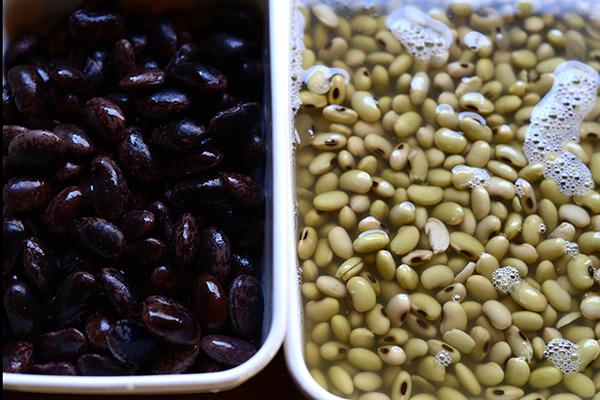 大豆と花豆