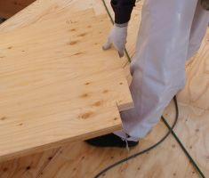 分厚い合板の施工・剛床の施工写真