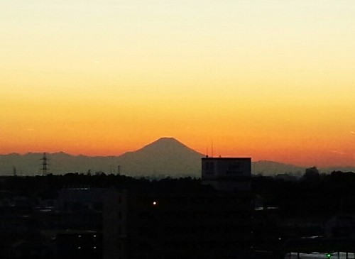 流山市内から富士山