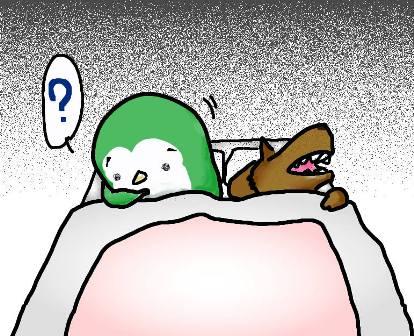 寝床でうぐぐ