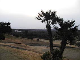 ホールアウト後は夕日が見えるまで天気が回復。