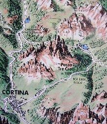 コルティナ・ダンペッツォ/クリックするとGoogleMapを表示します
