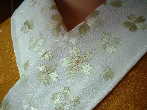 桜刺繍半衿