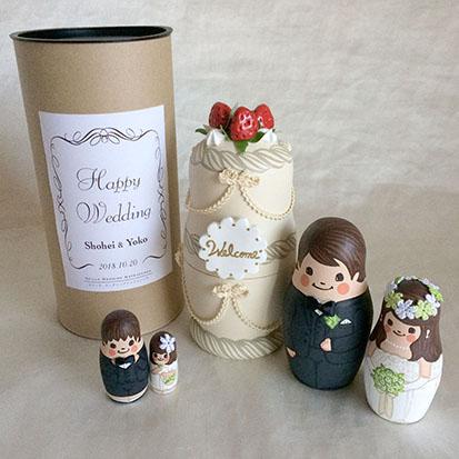 6d3a37c0eda2f 結婚式のウエルカムスペースを可愛く演出するウェルカムドールにぴったりなアイテムです。 贈り物としても喜ばれています。