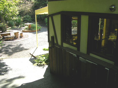 庭があります