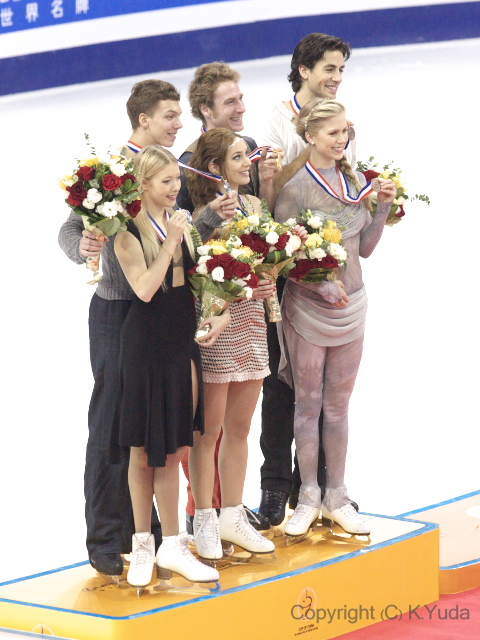2012 Cup Of China Ice Dancing Medallists