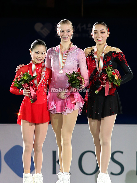 2015 Four Continents Ladies Medallists