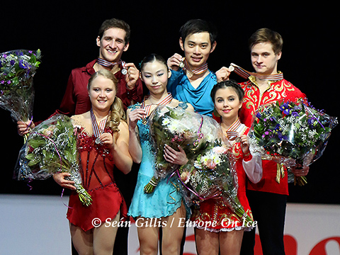 2015 World Junior Championships Pairs Medallists