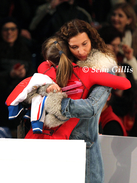Julia Lipnitskaya with Eteri Tutberidze