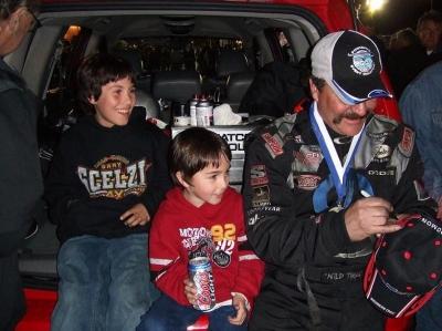 優勝したセルジーと息子達